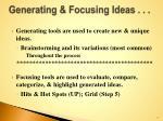 generating focusing ideas