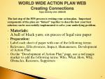 world wide action plan web creating connections topic activity unit 2008 09