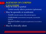 agenesis of corpus callosum