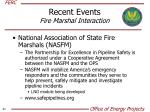 recent events fire marshal interaction