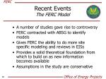 recent events the ferc model