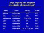 large ongoing trial program investigating xeloda avastin