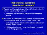 rationale for combining avastin and herceptin