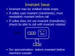 invariant issue