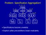 problem specification aggregation