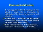 plaque and tooth brushing