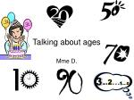 talking about ages