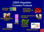 cber regulates complex products