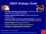 cber strategic goals