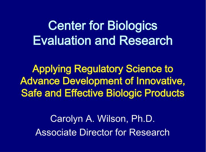 center for biologics evaluation and research n.