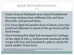 quick pre battle overview