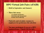 bpo virtual job fairs efair