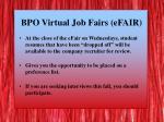 bpo virtual job fairs efair2