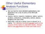 other useful elementary analysis functions