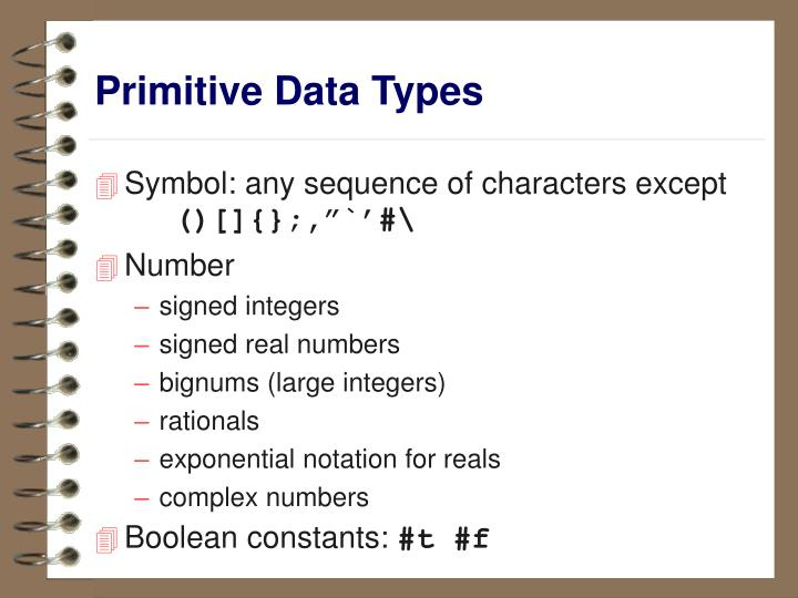 primitive data types n.
