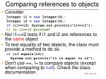 comparing references to objects