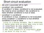 short circuit evaluation