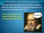 period of a simple pendulum