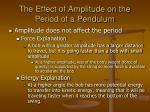 the effect of amplitude on the period of a pendulum