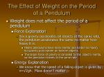 the effect of weight on the period of a pendulum