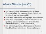 what is webmin cont d