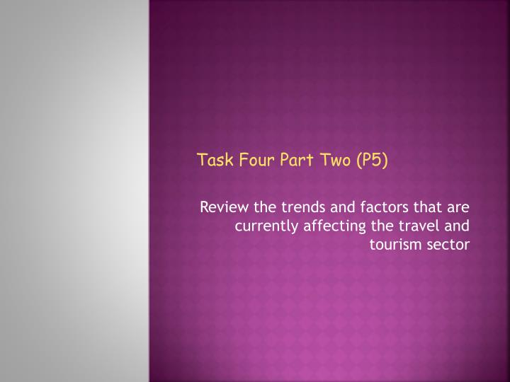 review the trends and factors that are currently affecting the travel and tourism sector n.