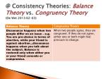 @ consistency theories balance theory vs congruency theory de wet 2013 62 63