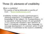 three 3 elements of credibility