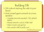 building tilt