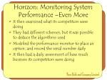 horizon monitoring system performance even more