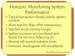 horizon monitoring system performance