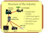 structure of the industry