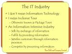 the it industry