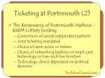 ticketing at portsmouth 2