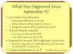 what has happened since september 11