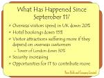 what has happened since september 111