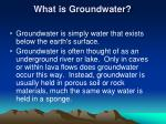 what is groundwater
