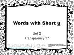 words with short u