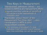 two keys in measurement