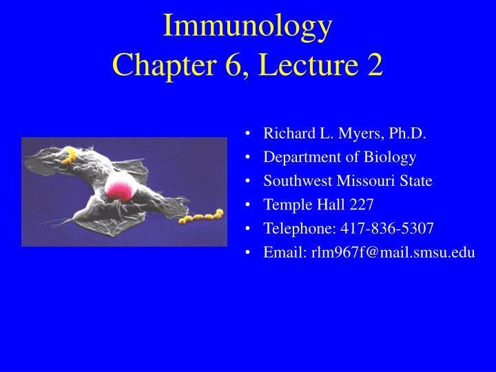 immunology chapter 6 lecture 2 n.