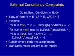 external consistency constraints
