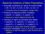 repairing violations of basic propositions