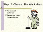 step 11 clean up the work area