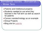 biomaterials courses biomaterials ii winter term