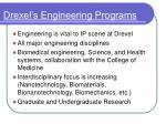 drexel s engineering programs