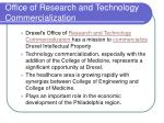 office of research and technology commercialization