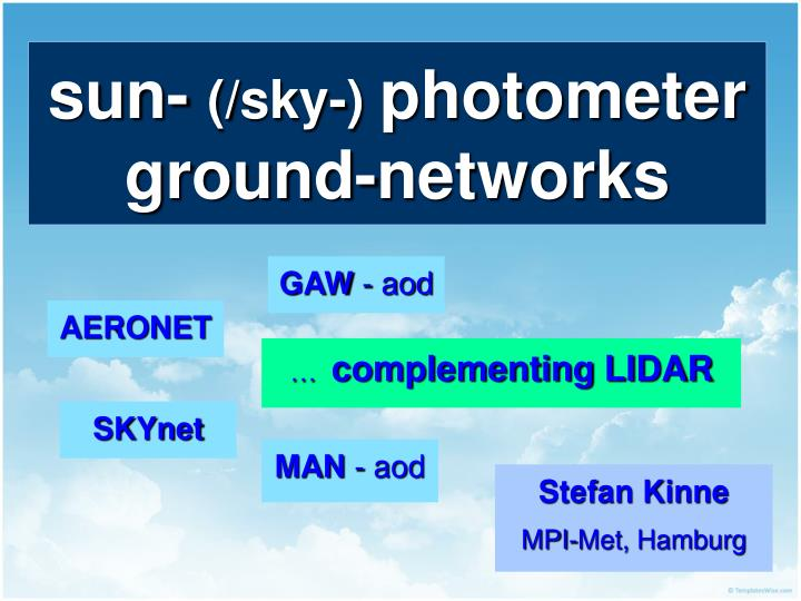 sun sky photometer ground networks n.