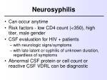 neurosyphilis