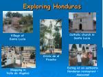 exploring honduras