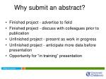 why submit an abstract